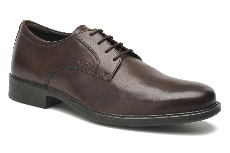 Chaussures à lacets Geox U CARNABY D U52W1D Marron vue détail/paire