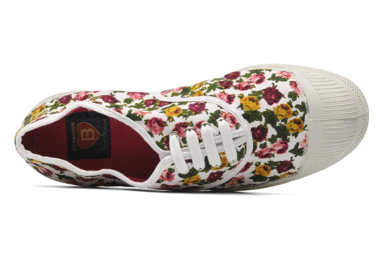 Sneaker Bensimon Tennis Paco Chicano Fleurs mehrfarbig ansicht von links
