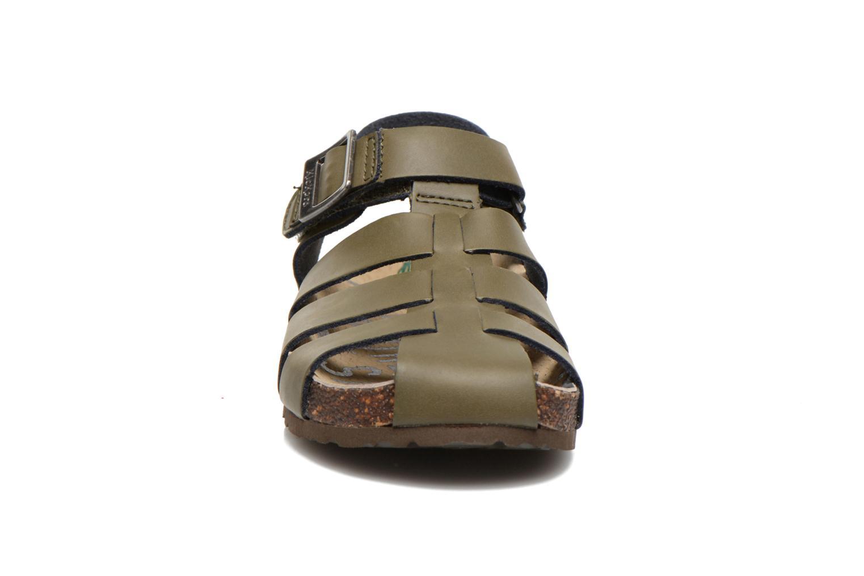 Sandales et nu-pieds Kickers MAGIFLO Vert vue portées chaussures