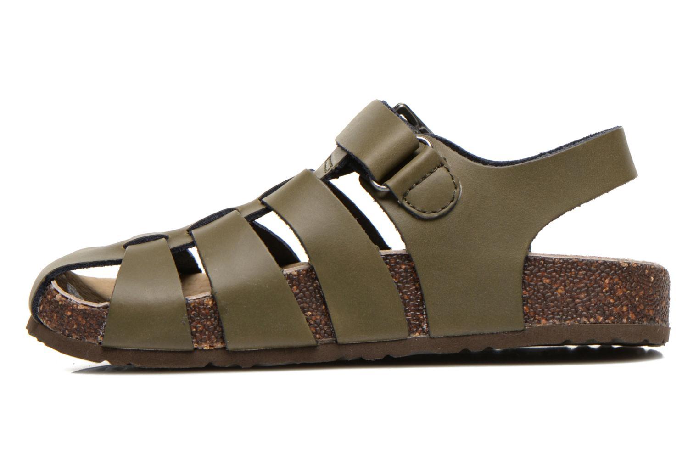 Sandales et nu-pieds Kickers MAGIFLO Vert vue face