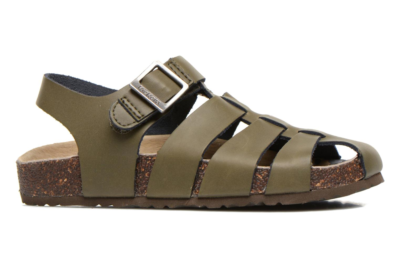 Sandales et nu-pieds Kickers MAGIFLO Vert vue derrière