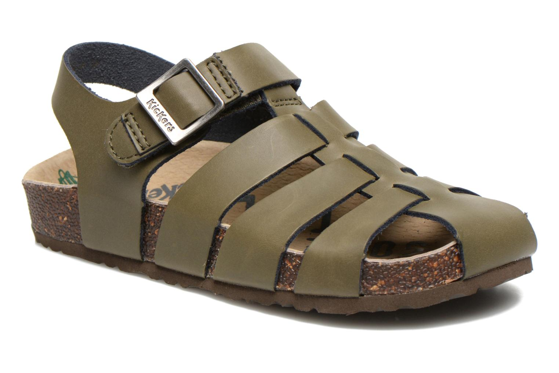 Sandales et nu-pieds Kickers MAGIFLO Vert vue détail/paire