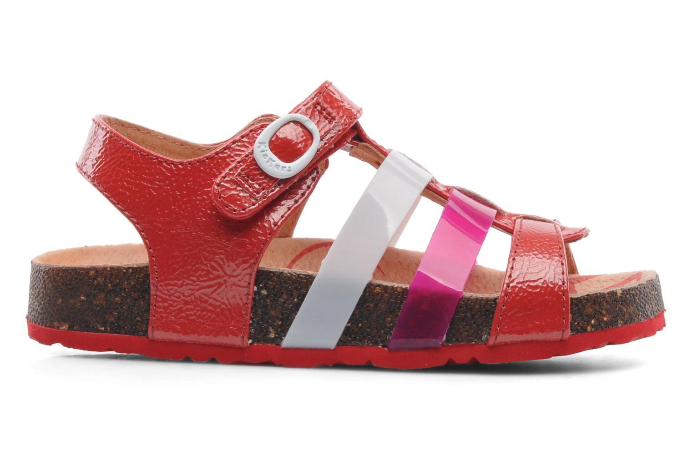 Sandales et nu-pieds Kickers MAGIPLAY Rouge vue derrière
