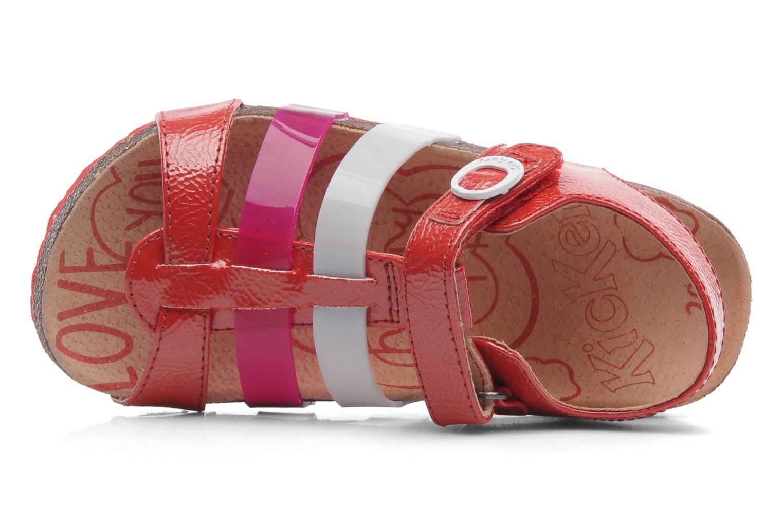 Sandales et nu-pieds Kickers MAGIPLAY Rouge vue gauche