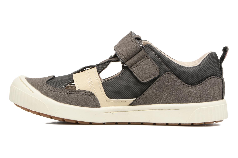 Zapatos con velcro Kickers ZIGUERO Gris vista de frente