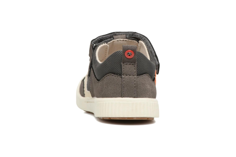Zapatos con velcro Kickers ZIGUERO Gris vista lateral derecha