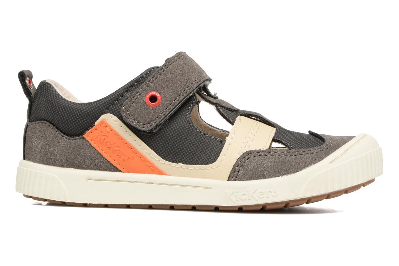 Chaussures à scratch Kickers ZIGUERO Gris vue derrière