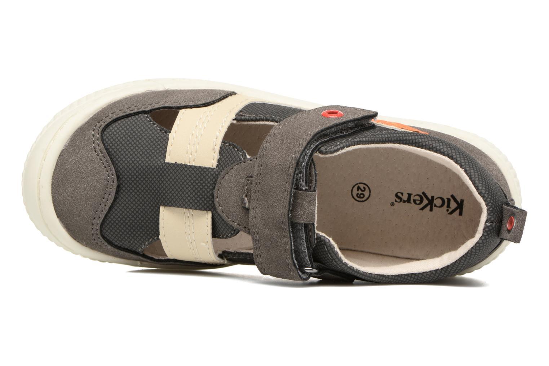 Zapatos con velcro Kickers ZIGUERO Gris vista lateral izquierda
