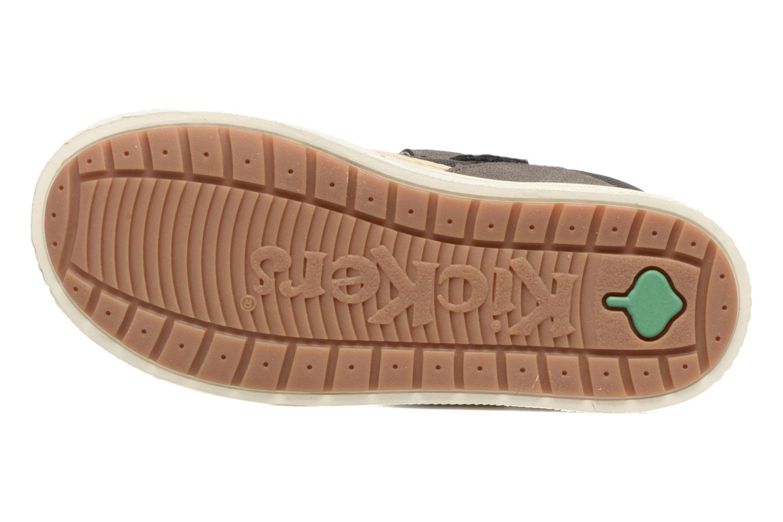 Zapatos con velcro Kickers ZIGUERO Gris vista de arriba