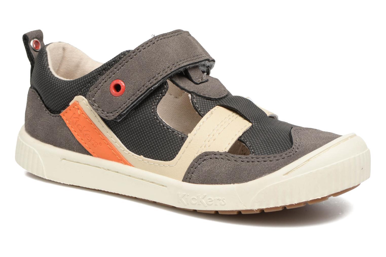 Zapatos con velcro Kickers ZIGUERO Gris vista de detalle / par