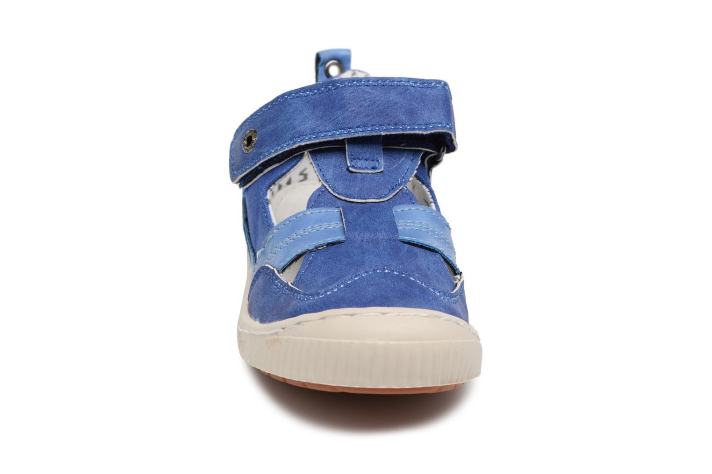 mit Klettverschluss Kickers ZIGUERO blau schuhe getragen