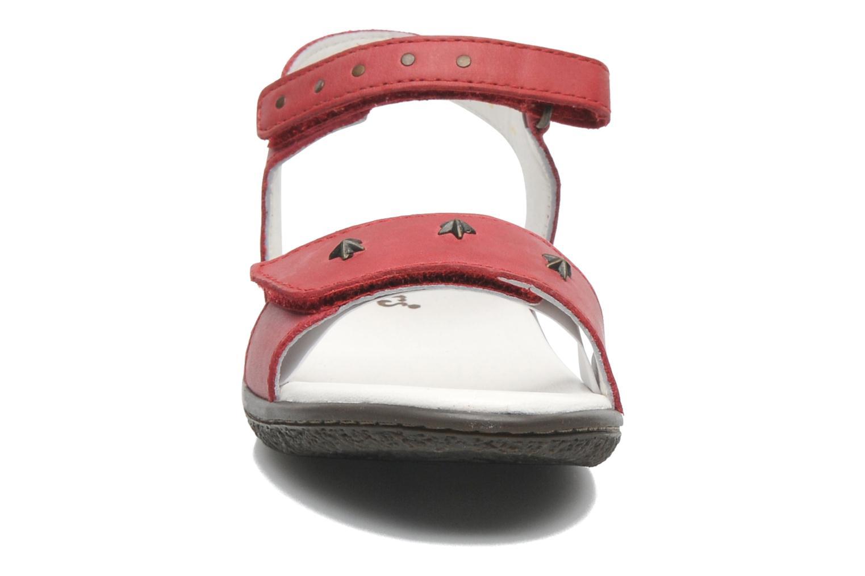 Sandalen Kickers VENICE1 rot schuhe getragen