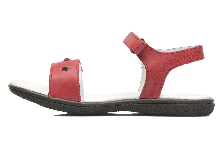 Sandalen Kickers VENICE1 rot ansicht von vorne