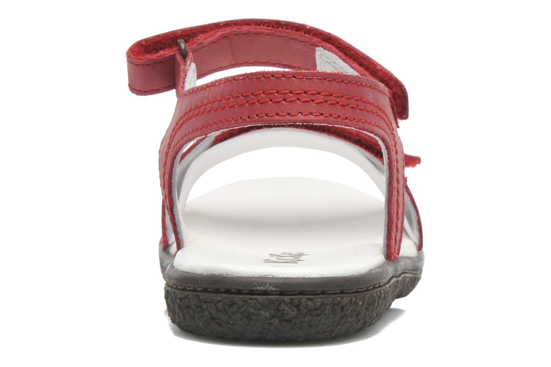 Sandalen Kickers VENICE1 rot ansicht von rechts