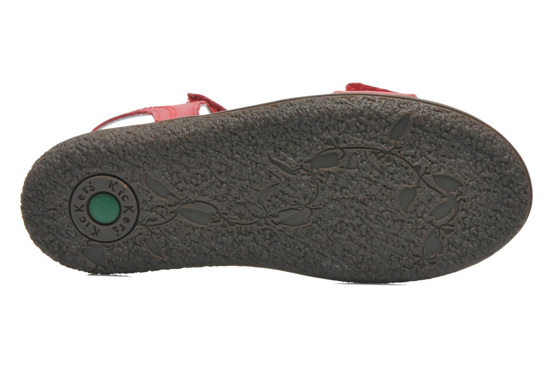 Sandalen Kickers VENICE1 rot ansicht von oben