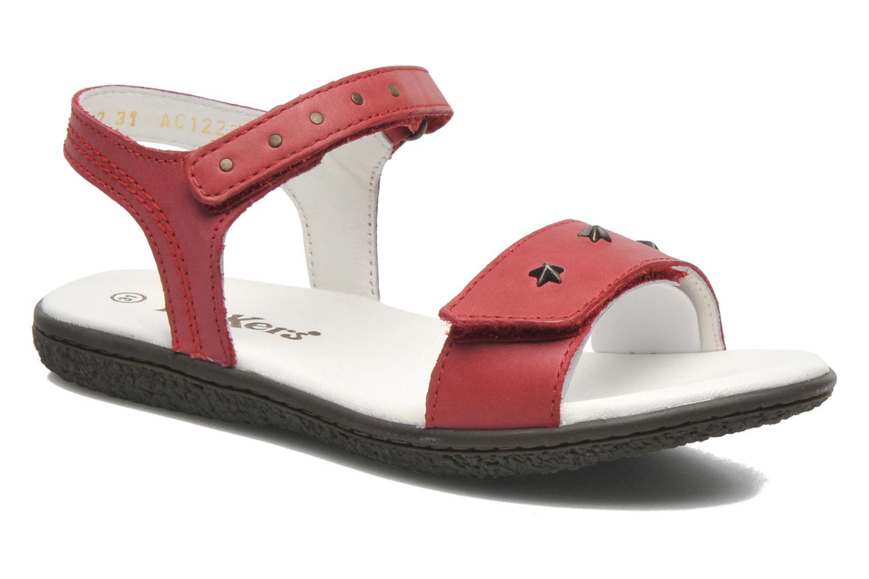 Sandalen Kickers VENICE1 rot detaillierte ansicht/modell