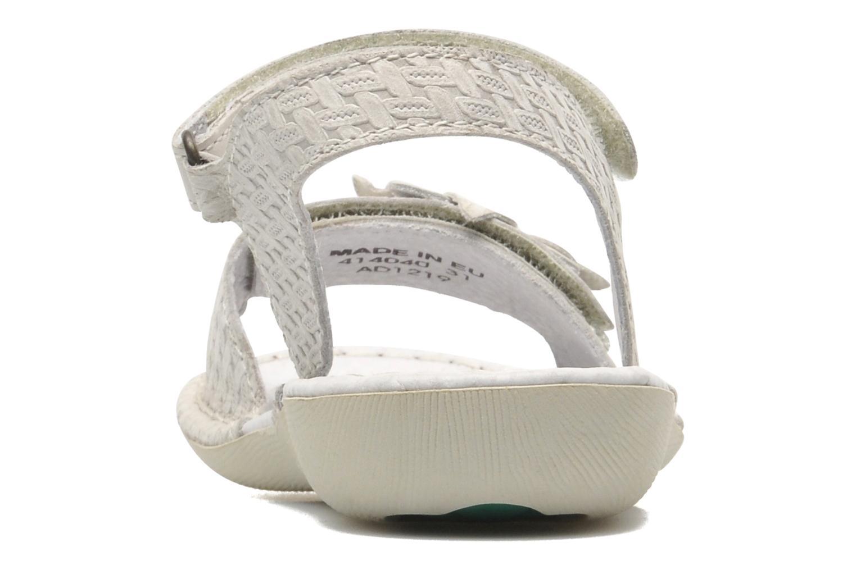 Sandales et nu-pieds Kickers EVANA Blanc vue droite