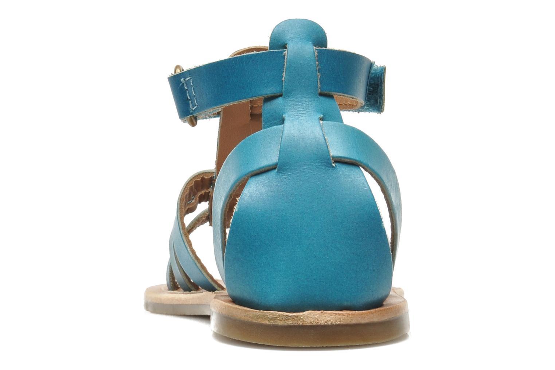 Sandalen Kickers DIXHUIT blau ansicht von rechts