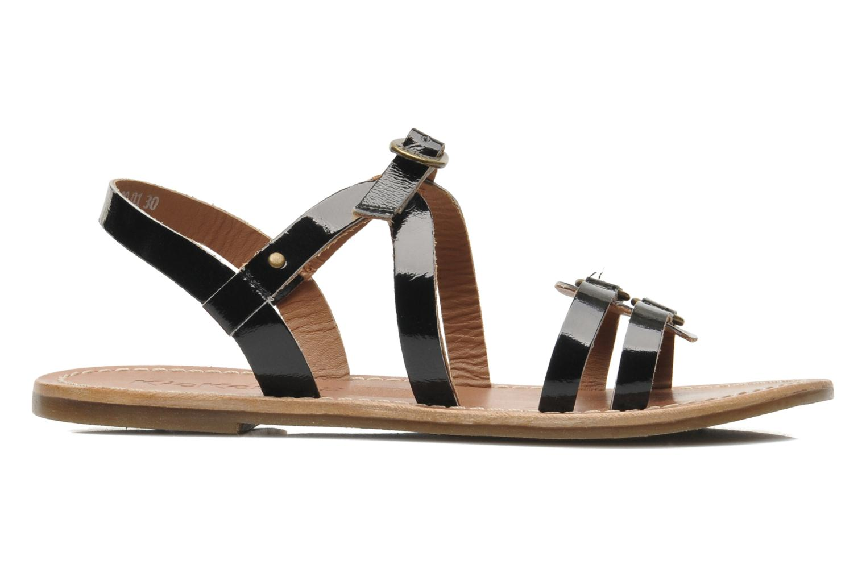 Sandales et nu-pieds Kickers DIXNEUF Noir vue derrière