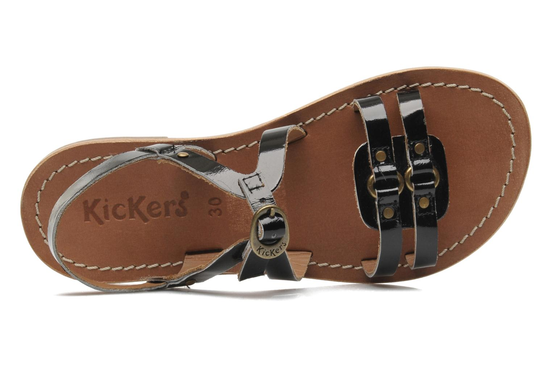 Sandales et nu-pieds Kickers DIXNEUF Noir vue gauche