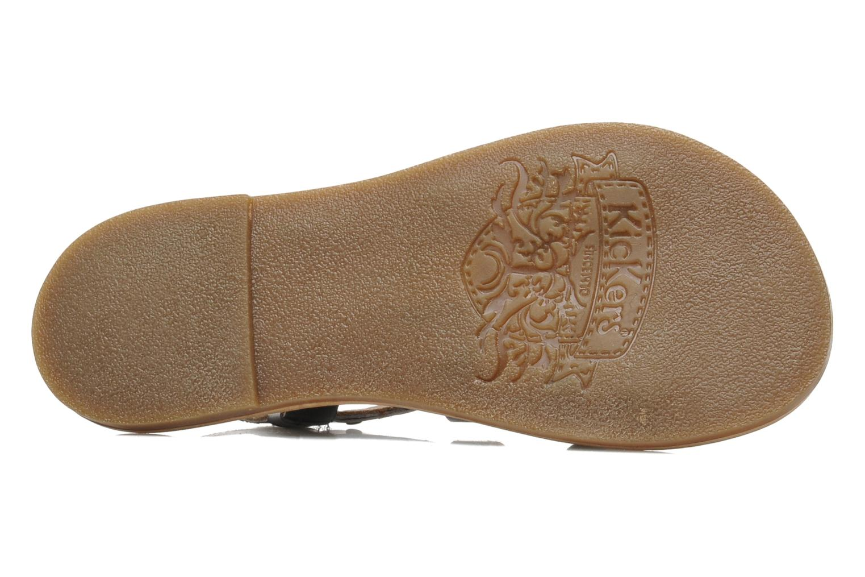 Sandales et nu-pieds Kickers DIXNEUF Noir vue haut
