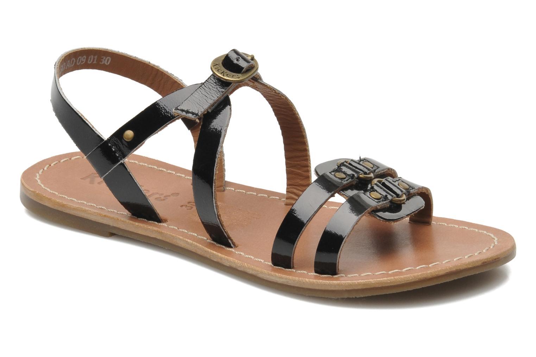Sandales et nu-pieds Kickers DIXNEUF Noir vue détail/paire