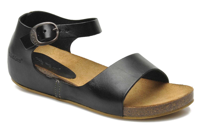 Sandaler Kickers BOMBERA Sort detaljeret billede af skoene