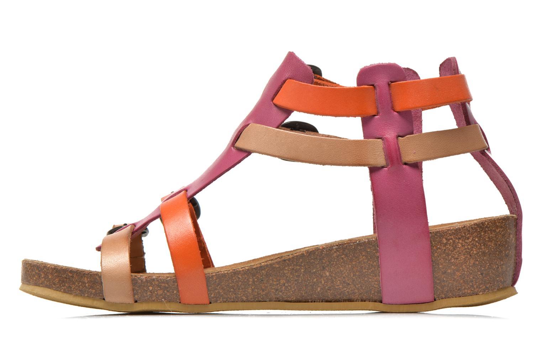 Sandales et nu-pieds Kickers BOMDIA Rose vue face