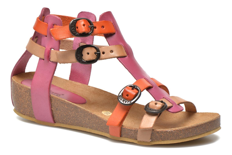 Sandales et nu-pieds Kickers BOMDIA Rose vue détail/paire