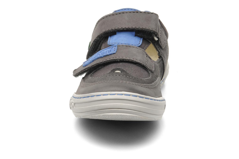 Chaussures à scratch Kickers JYKROI Gris vue 3/4