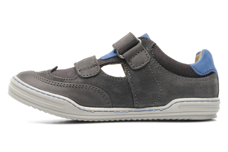 Chaussures à scratch Kickers JYKROI Gris vue portées chaussures