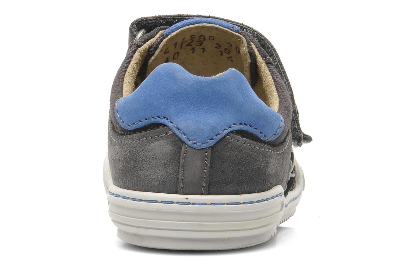 Chaussures à scratch Kickers JYKROI Gris vue face