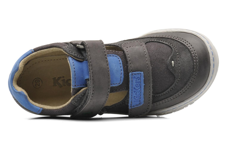 Chaussures à scratch Kickers JYKROI Gris vue derrière