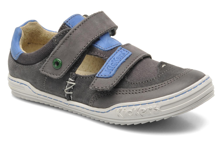 Chaussures à scratch Kickers JYKROI Gris vue détail/paire