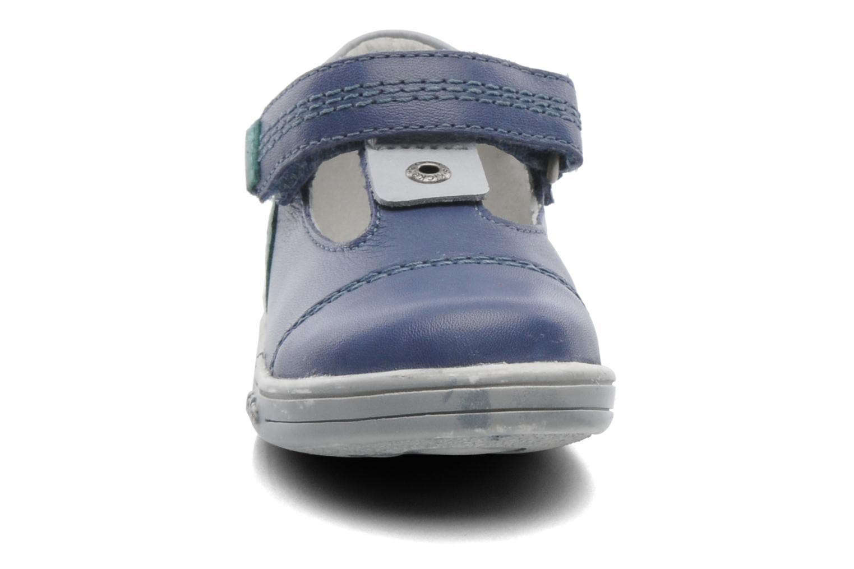 Chaussures à scratch Kickers TROPICO Bleu vue portées chaussures