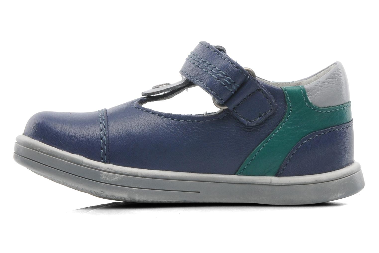 Schoenen met klitteband Kickers TROPICO Blauw voorkant