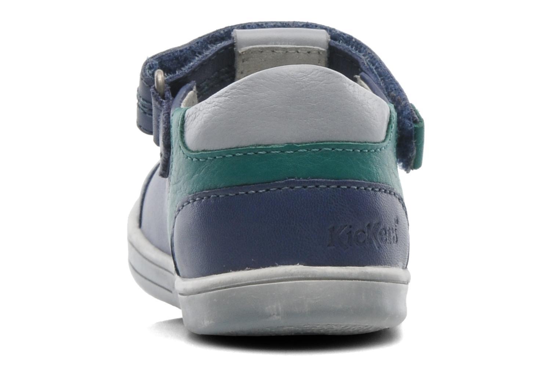 Schoenen met klitteband Kickers TROPICO Blauw rechts