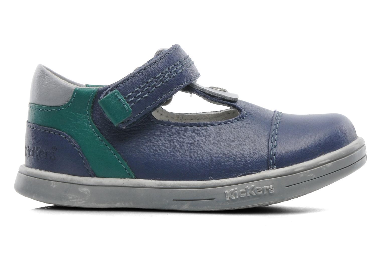 Schoenen met klitteband Kickers TROPICO Blauw achterkant