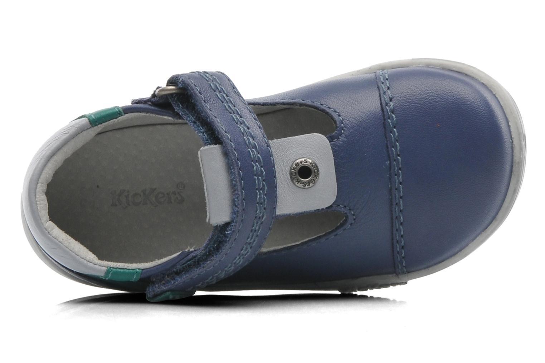 Schoenen met klitteband Kickers TROPICO Blauw links