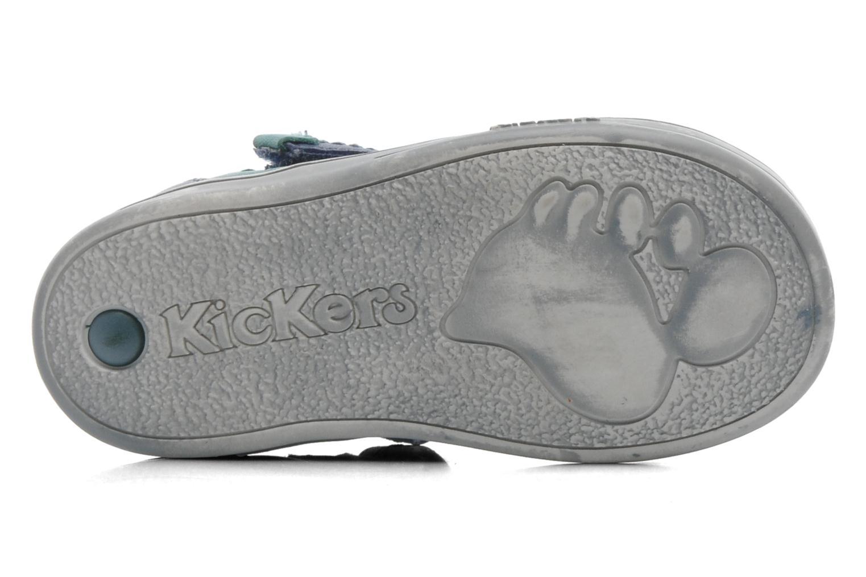 Chaussures à scratch Kickers TROPICO Bleu vue haut