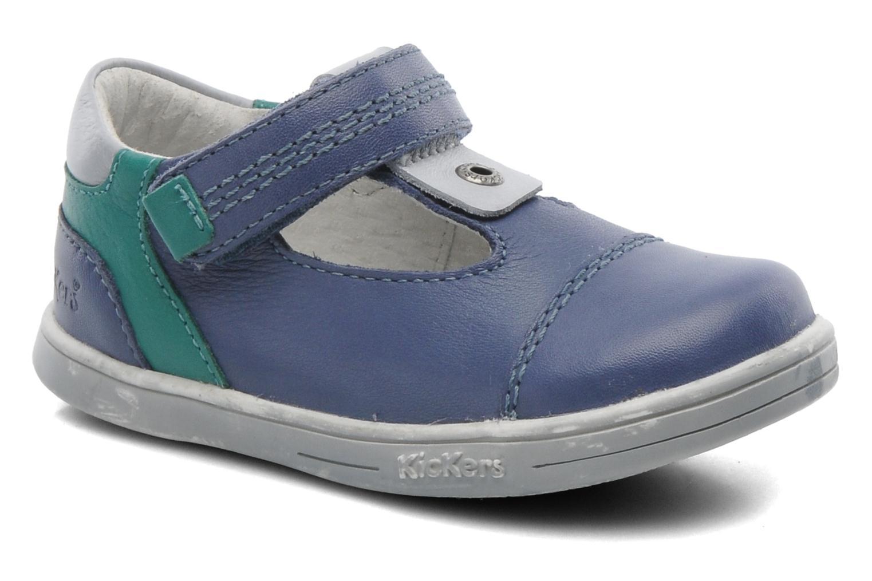 Schoenen met klitteband Kickers TROPICO Blauw detail