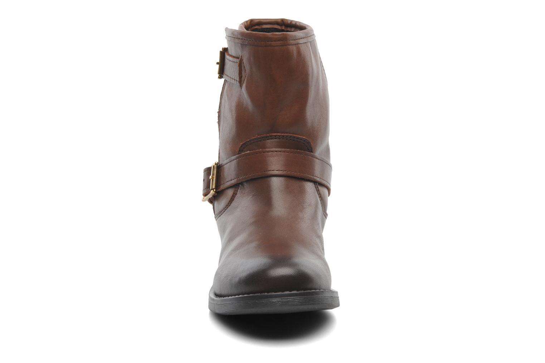 Stiefeletten & Boots Pieces Iza Leather Zipper Boot braun schuhe getragen