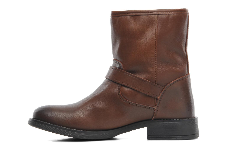 Iza Leather Zipper Boot Cognac