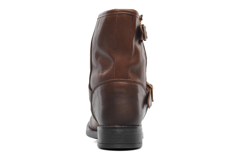 Stiefeletten & Boots Pieces Iza Leather Zipper Boot braun ansicht von rechts