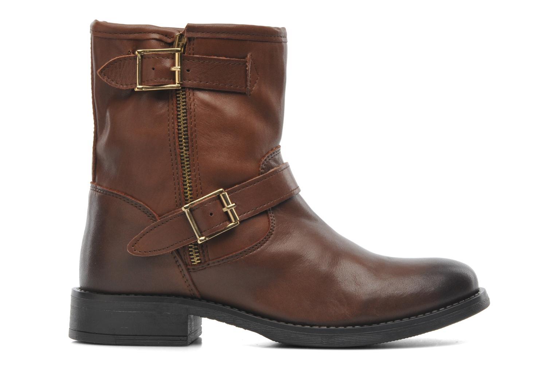 Stiefeletten & Boots Pieces Iza Leather Zipper Boot braun ansicht von hinten
