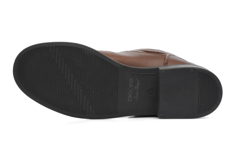 Stiefeletten & Boots Pieces Iza Leather Zipper Boot braun ansicht von oben