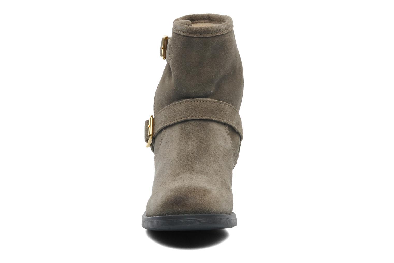 Stiefeletten & Boots Pieces Iza Suede Zipper Boot grün schuhe getragen