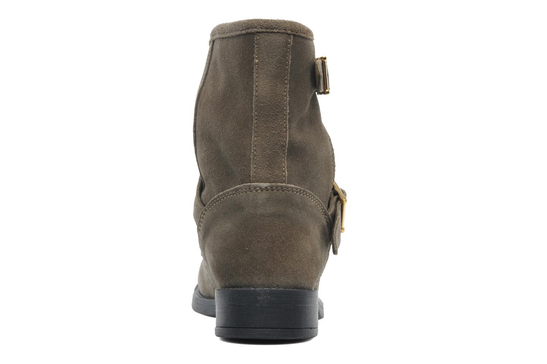 Stiefeletten & Boots Pieces Iza Suede Zipper Boot grün ansicht von rechts