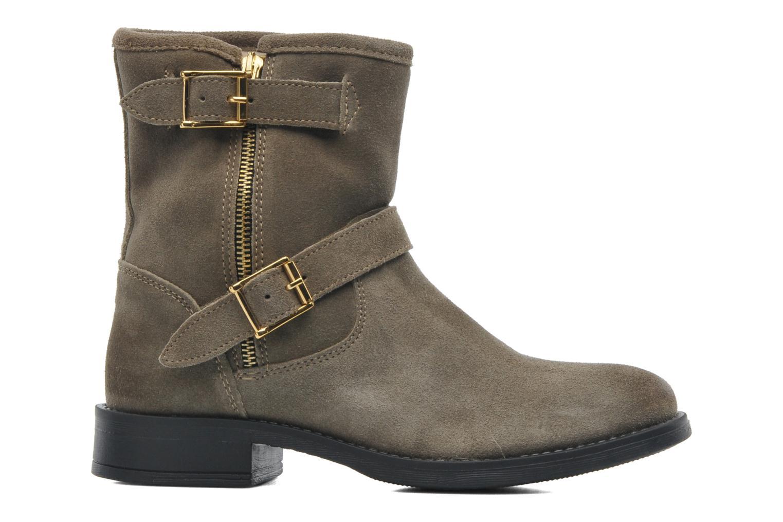 Stiefeletten & Boots Pieces Iza Suede Zipper Boot grün ansicht von hinten