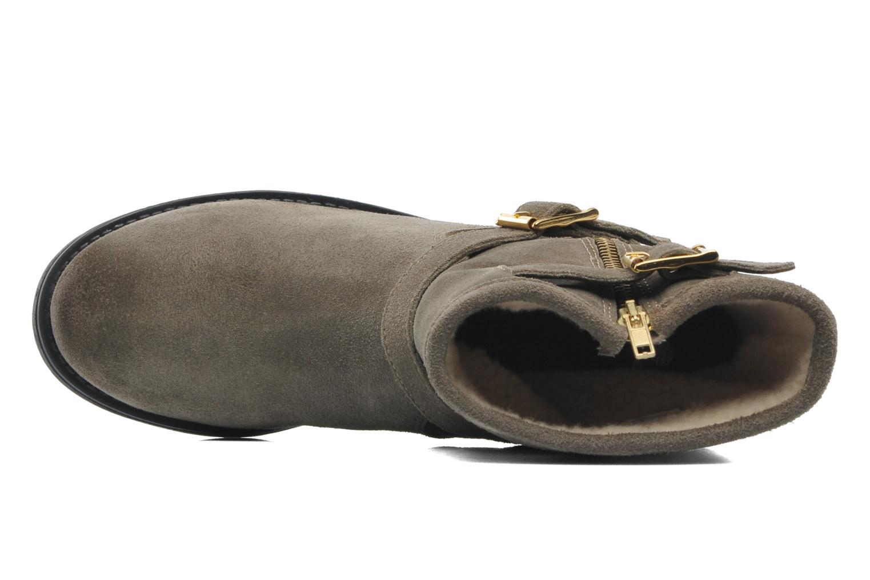 Stiefeletten & Boots Pieces Iza Suede Zipper Boot grün ansicht von links